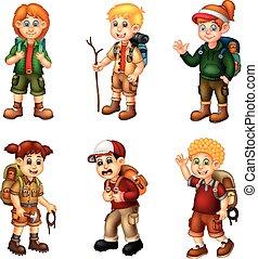 cartone animato, avventura, pacco, ragazza, ragazzo, divertente