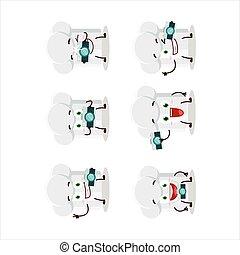 cartone animato, chef, fotografo, cappello, professione, carattere, emoticon