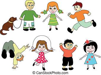cartone animato, children.