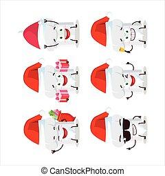 cartone animato, claus, chef, cappello santa, carattere, emoticons