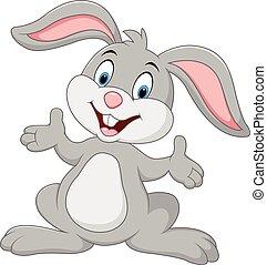 cartone animato, coniglio, proposta, carino