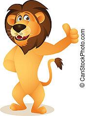 cartone animato, divertente, leone