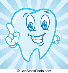 cartone animato, fondo, denti