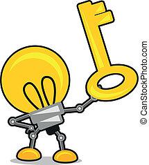 cartone animato, illustrazione, lampada