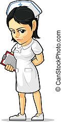 cartone animato, infermiera