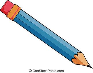cartone animato, matita, vettore