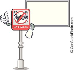 cartone animato, no, porta, macchina fotografica, pollici, asse, conficcato