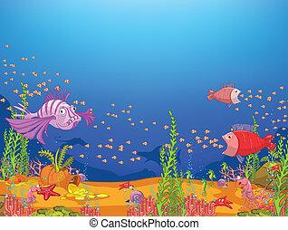 cartone animato, oceano