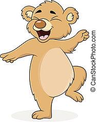 cartone animato, orso, ballo