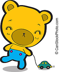 cartone animato, orso
