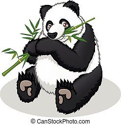 cartone animato, panda, gigante