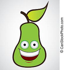 cartone animato, pera