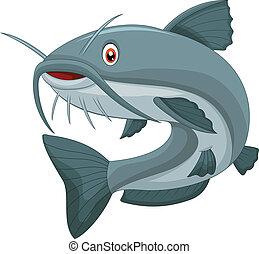 cartone animato, pesce gatto