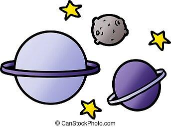cartone animato, pianeti