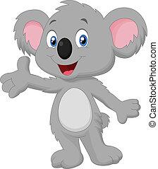 cartone animato, proposta, koala, carino