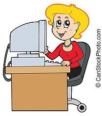cartone animato, segretario