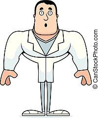 cartone animato, sorpreso, dottore