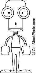 cartone animato, sorpreso, robot