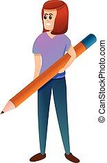 cartone animato, stile, redattore, icona