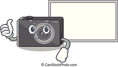 cartone animato, su, digitale, asse, macchina fotografica, forma, pollici