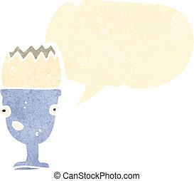 cartone animato, uovo