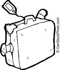 cartone animato, valigia