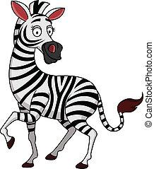 cartone animato, zebra