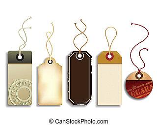 cartone, etichette, vendite