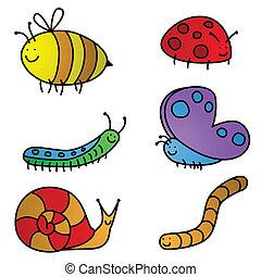 cartoni animati, insetto