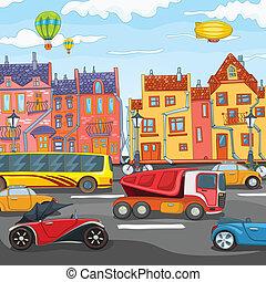 cartoon., città