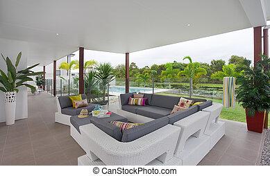 casa a schiera, esterno, moderno, terrazzo