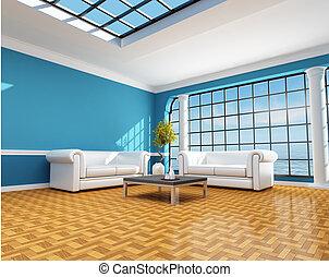 casa blu, spiaggia, classico