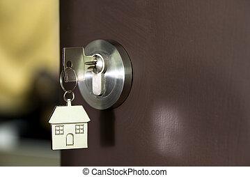 casa, chiave porta