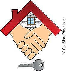 casa, concetto, -, acquisto