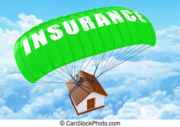 casa, concetto, assicurazione