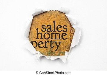 casa, concetto, vendite