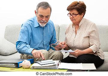 casa, coppia, finanze, calcolatore