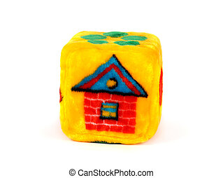 casa, cubo, giocattolo, modello