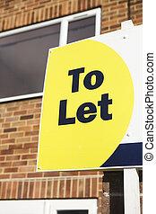 casa, esterno, permettere, segno