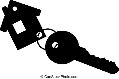 casa, keychain, chiave