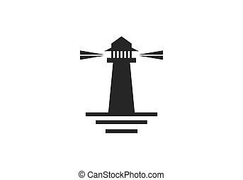 casa, logotipo, vettore, luce
