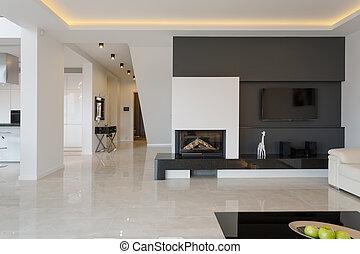 casa, moderno, disegno, minimalistic