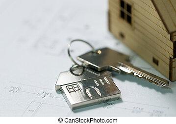 casa, piano, chiave