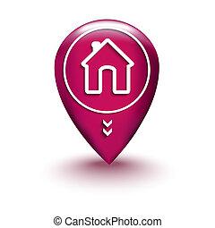 casa, posizione, mappa
