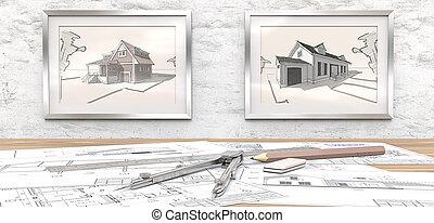 casa, project., sogno