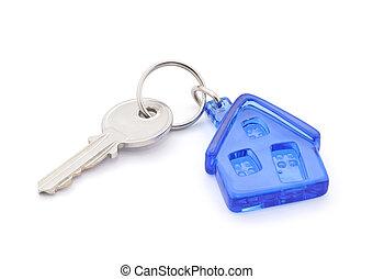 casa, ritaglio, chiave, percorso