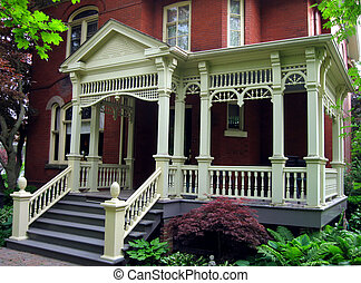 casa, secolo, veranda
