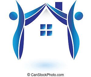 casa, vettore, figure, logotipo