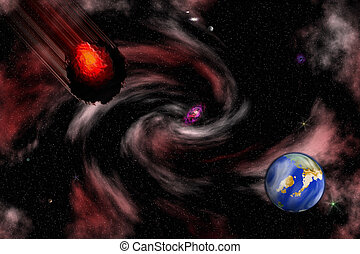 casato, immagine, asteroide, scena, spazio