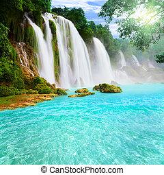 cascata, detian